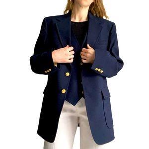Sears, Roebuck & co single breasted blazer in navy